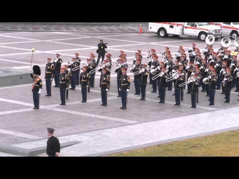 """Pershing's Own"" Inauguration Parade Rehearsal 2013"