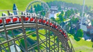 Extreme Wooden Mountain Coaster :: Planet Coaster Beta