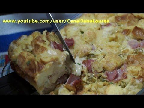 DICAS CASEIRAS - TORTA SALGADA DE PÃO