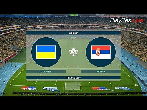 PES 2019 - UKRAINE vs SERBIA - Full Match & All Goals - PC Gameplay FHD