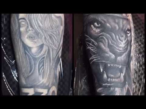 Tim Pangburn Lion Cover Up Tattoo