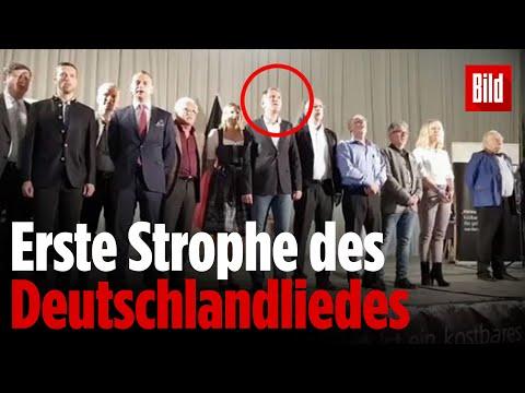 Lied der Deutschen: AfD singt »Deutschland, Deutschland ...
