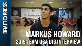 Markus Howard 2015 Team USA U16 Interview
