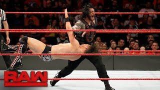 The Miz Vs  Roman Reigns   Intercontinental Championship Match  Raw  Nov  20  2017