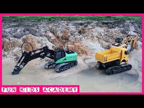 Video Bruder Toys - Excavator JCB Working In Water - Trucks for Kids download in MP3, 3GP, MP4, WEBM, AVI, FLV January 2017