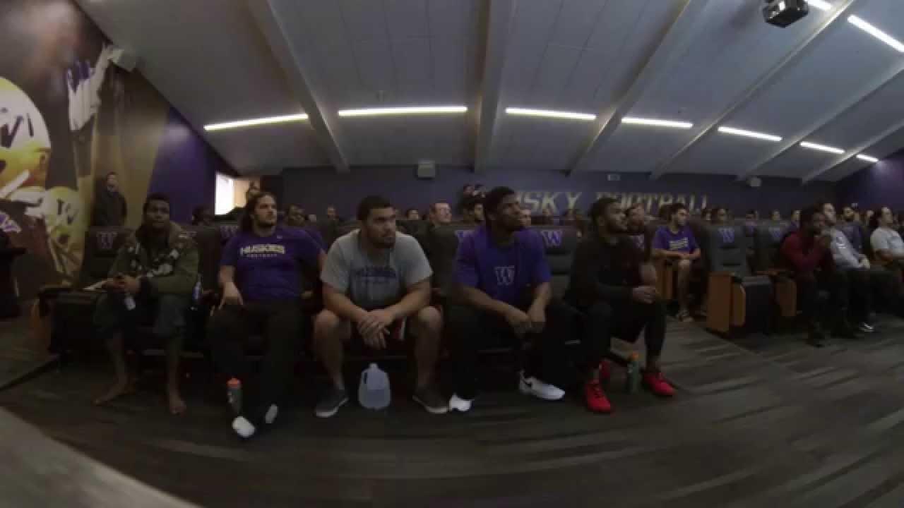 Husky Football // Players React to New Uniforms