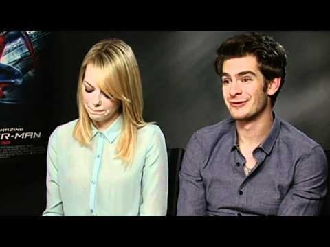 emma stone - Spider-Man's Andrew Garfield and Emma Stone talk about their impending super-fame, with Emma making jokey jibes at her co-star and boyfriend. Report by Sophi...