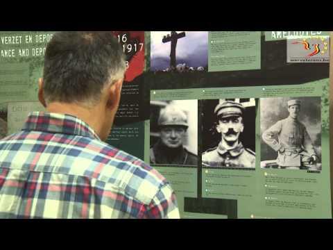 """L'exposition """"La Grande Guerre dans les grandes lignes"""" en tournée dans le Hainaut."""