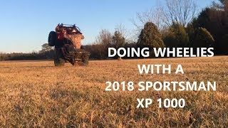 8. Doing Wheelies with a 2018 Polaris Sportsman XP 1000