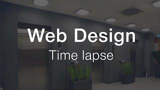 "Web Design for ""SKALA"" - Time lapse"