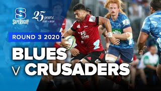 Blues v Crusaders Rd.3 2020 Super rugby video highlights | Super Rugby Video Highlights