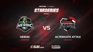 Heroic vs ALTERNATE aTTaX, map 2 mirage, SL i-League StarSeries Season 3 Europe Qualifier