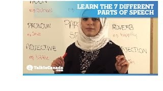 Learn The 7 Different Parts Of Speech Including Nouns, Pronouns, Verbs, Adverbs, Adjectives...