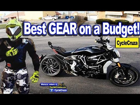 2018 Best Motorcycle GEAR on a BUDGET -  SAVE $$$ | MotoVlog