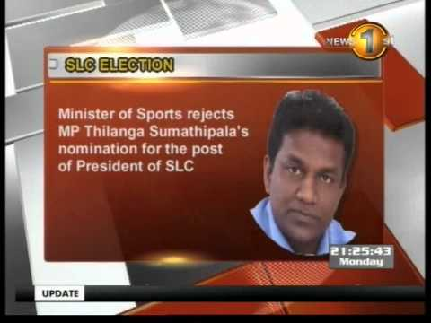 Sports Minister rejects Sumathipala's application