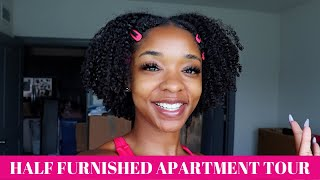 Video HALF FURNISHED APARTMENT TOUR | LIVING, DINING, AND BEDROOM DECOR MP3, 3GP, MP4, WEBM, AVI, FLV Agustus 2019