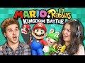 MARIO + RABBIDS KINGDOM BATTLE! (College Kids React: Gaming)