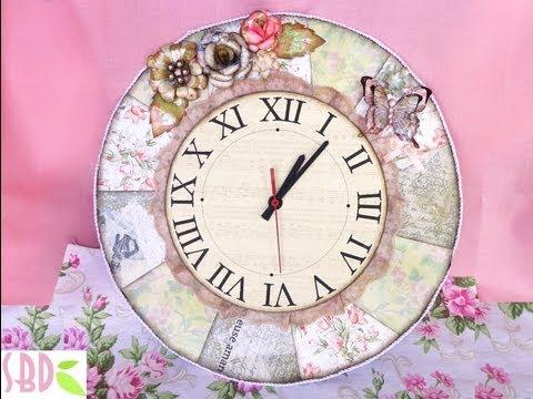 come realizzare un fantastico orologio shabby shic!