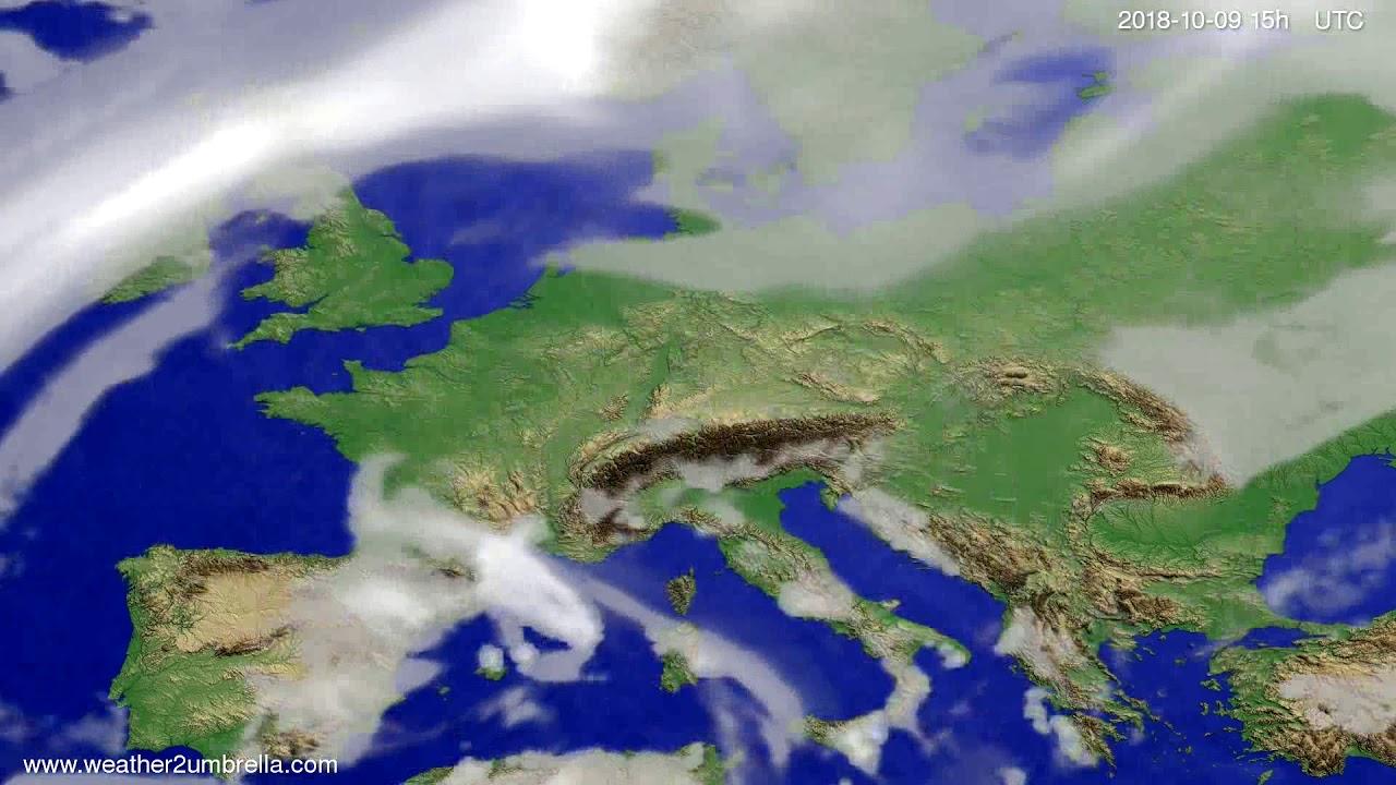 Cloud forecast Europe 2018-10-07