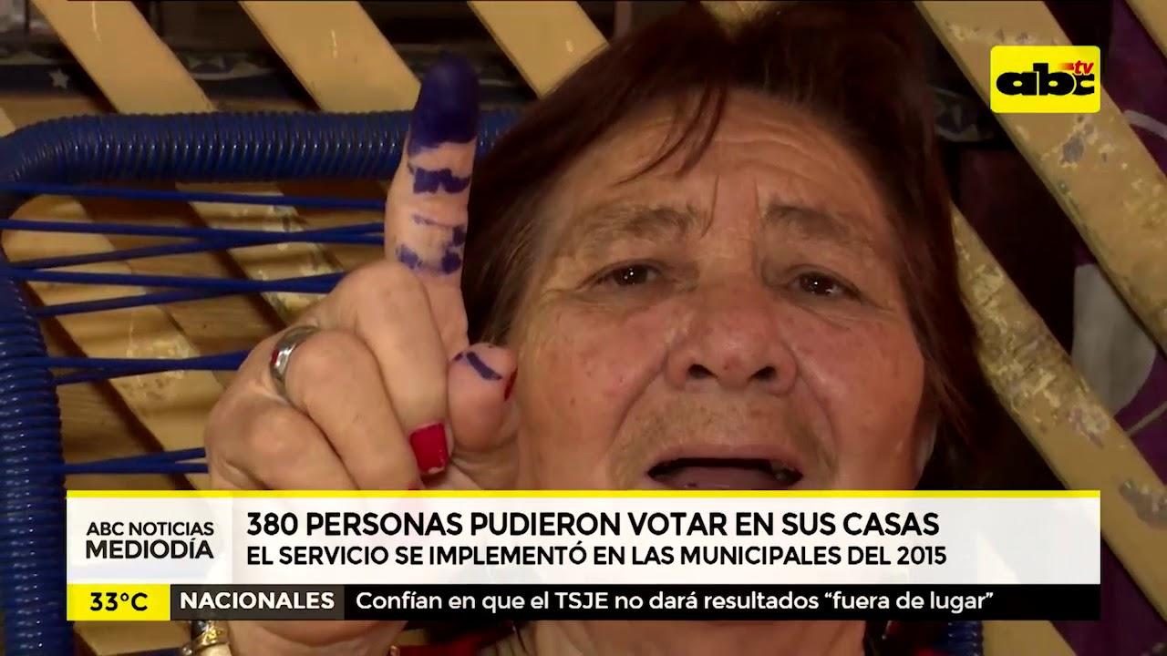380 personas pudieron votar desde sus casas