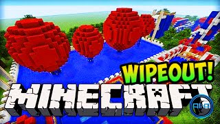 Minecraft Wipeout - TOTAL WIPEOUT (PARKOUR CHALLENGE)! - Minecraft!