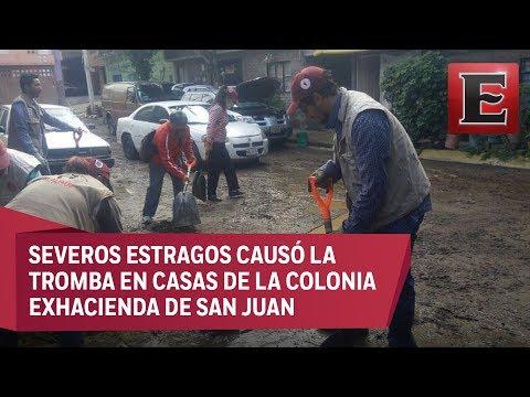 Continúa labores de limpieza en Tlalpan a consecuencia de lluvias