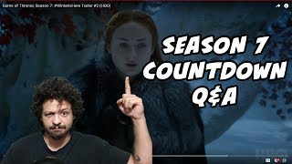 LETS CHAT GAME OF THRONES SEASON 7!Season 7 Trailer 2 BREAKDOWNhttps://youtu.be/NVneDAgjGmoHBO Spain Trailer BREAKDOWNhttps://youtu.be/swsDIbBi0R8Jon Snow NORTH OF THE WALL?!https://youtu.be/vpJ9zIa0L2g10,000 SUBSCRIBERS GIVE-A-WAY! Daenerys Dark Horse Figurine!SUBSCRIBE TO ENTER!!http://bit.ly/1Wo7tb0Support My Workhttps://www.patreon.com/SerHuntsReviewsFOLLOW ME ON INSTAGRAM!http://bit.ly/2qCHzmJFollow Me on Twitter for DAILY updates!http://bit.ly/1X0jLoWSeason 7 Trailer BREAKDOWNhttps://youtu.be/nYxJKVLCZl4OFFICAL SEASON 7 TRAILER In-Depth Analysishttps://www.youtube.com/watch?v=vrCx3V0VPTUTyrion DRAGON RIDER?!https://youtu.be/9LsMBjEtb-cGoT Spin-off Rumors Debunked!https://youtu.be/8TobRvpzEvgVoice In The Flames!?https://youtu.be/taEOAuN9KPwThe NIght King Is A WARG?!https://youtu.be/ydly-akdjWQReligious Counterparts?!https://youtu.be/kjjZAkSSShwGendry's Unexpected Journeyhttps://youtu.be/ErS8m5CThMoSeason 7 Deathtollhttps://youtu.be/0MBfMNoVMeMIs Arya At Home In This Picture?https://youtu.be/Us1wseJy74cWhat Is The Jade Compendium?https://youtu.be/NatJNPF_K_cCrypts Of Winterfell?!https://youtu.be/G0g1fJpS4lUOfficial Season 7 Imageshttps://youtu.be/YIg_sa8nYNcSeason 7 Theories, and Foreshadowing!Dragons the SIZE of PLANES!?https://youtu.be/3rhRU3URNzEWho Is Azor Ahai Really?!https://youtu.be/7W1HS-5wGr0SXSW Panel Review!https://youtu.be/Pj4TwmU43IcCasterly Rock Season 7!https://youtu.be/rEax42nGCHASUBSCRIBE PLEASE!!http://bit.ly/2j7sqXpClick here for more!http://bit.ly/1Wo7tb0Friend Me on Facebookhttp://bit.ly/1rUsKfrBecome A Sponsor! (Patreon Support)http://bit.ly/1T8t5ruI dont own the rights, images AND MUSIC  to Game Of Thrones.(Property of HBO) (Property of George RR Martin) Everything here is used under fair use. ➤ Jon Snow ➤ Game Of Thrones ➤House Stark ➤House Targaryen➤Game of Thrones Season 7 Trailer BREAKDOWN➤Season 7 Promo➤Season 7 Trailer #2➤Winter Is Here Season 7 Trailer➤Official Season 7 Game Of Thrones TrailerSOURCES:HBO