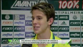 O Verdão venceu o Paranoá-DF por 3 a 2 na estreia da Copa São Paulo de Futebol Júnior nesta segunda-feira (2), na Arena Fonte Luminosa.