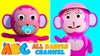 Learn Colors With Monkey Hand Painting | 3D Nursery Rhymes By All Babies Channel
