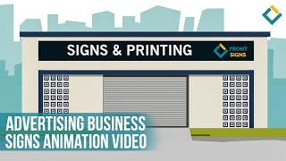 Advertising Business Signs Animation Video