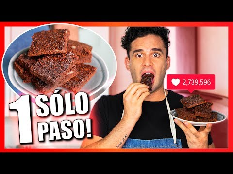 Intenté seguir un Tutorial de MIS PASTELITOS!! Brownies en 1 solo paso?? 🤔
