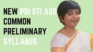 PSI STI ASO MPSC Prelims Syllabus useful for 16 th July examination..
