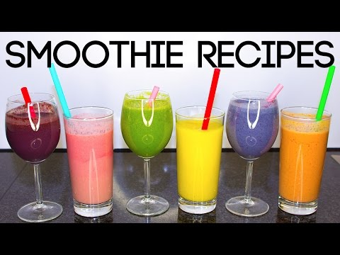 6 Smoothie Recipes in 6 Minutes
