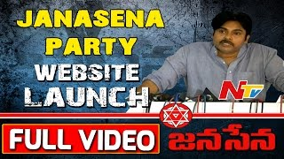 Janasena Party Formation Day || Website Launch || Full Video || Pawan Kalyan || NTV