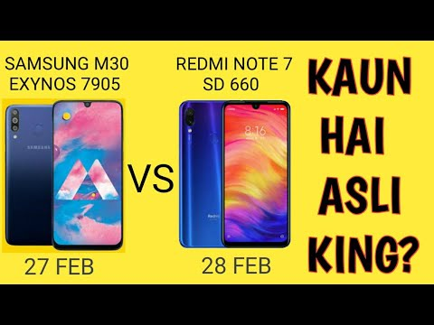 Redmi Note 7 Vs Samsung Galaxy M30 - Kaunsa Best Hai?