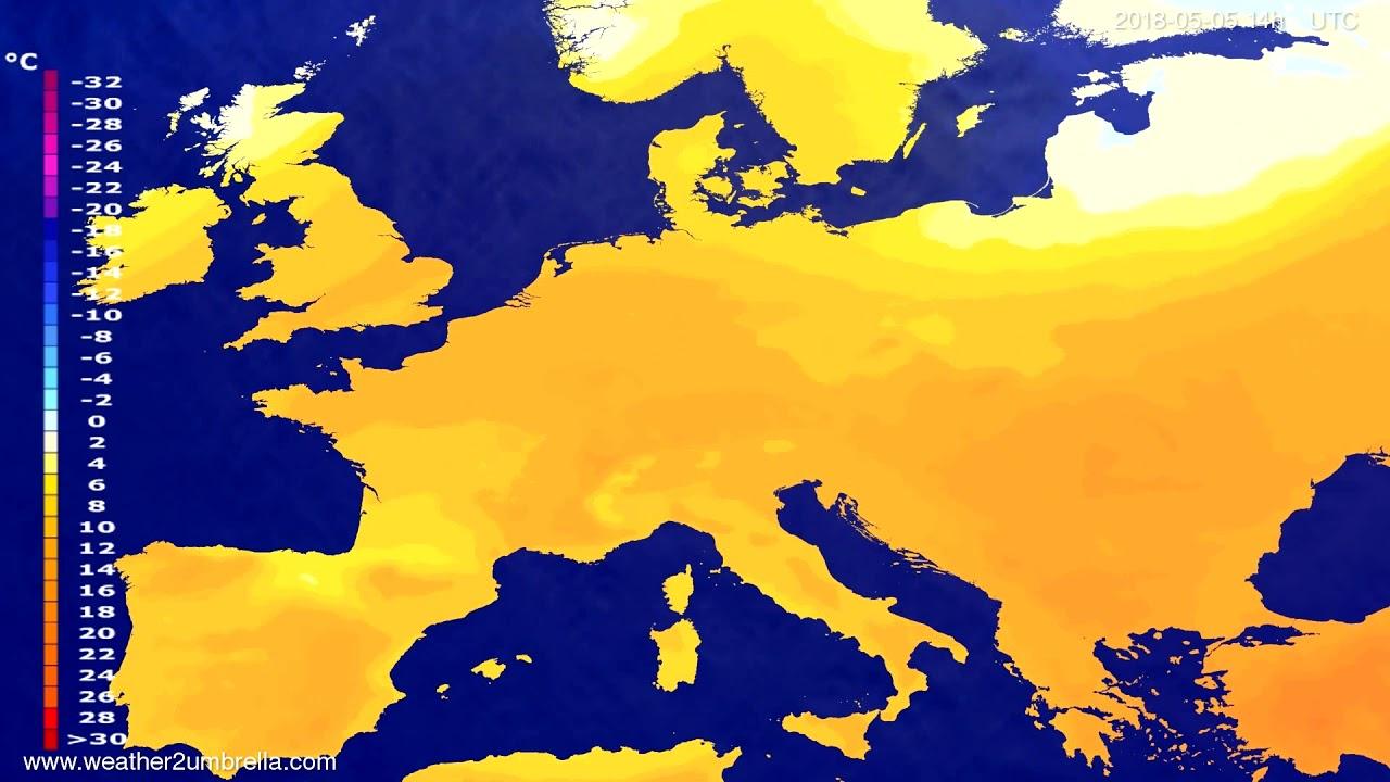 Temperature forecast Europe 2018-05-01