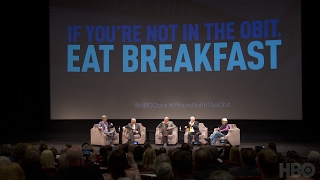 Legendary Hollywood entertainers Carl Reiner, Norman Lear, Mel Brooks, and Dick Van Dyke sit down with Tom Bergeron at a panel in Los Angeles.If You're Not In The Obit, Eat Breakfast premieres Monday June 5 at 8PM on HBO.