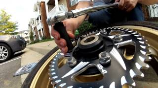 10. How To Change Sprockets on a 2006-2009 Yamaha R6