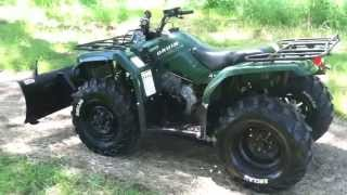 8. 2005 Yamaha Bruin 350 4x4 with winch and plow