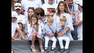 Roger Federer's two sets of twins steal the show at Wimbledon 2017 final with their matching outfits The cute quartet stole the...
