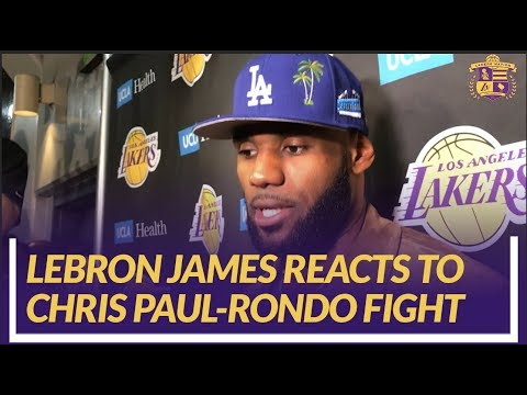 Video: Lakers Nation Interview: LeBron James Reacts to Chris Paul-Rajon Rondo Fight