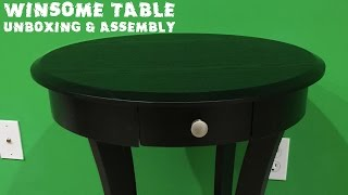 Winsome Wood Round Table with Drawer and Shelf Unboxing