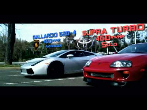 Toyota Supra Turbo vs. Lamborghini Gallardo