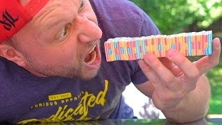 Video 100 LAYERS OF GUM ONE BITE CHALLENGE! MP3, 3GP, MP4, WEBM, AVI, FLV Januari 2018