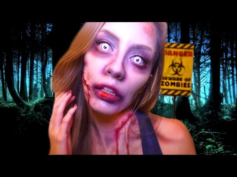 Conviértete En ZOMBIE En Halloween Fácil ! | The Walking Dead ZOMBIE MakeUp Tutorial | Katie Angel