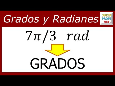 Conversion de radianes eine grados
