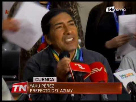 Yaku Pérez asegura que lucha contra la minería se fortalecerá en el país