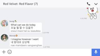 Red Velvet🍰 - Red Flavor Lyrics (Eng/Han/Rom)🍊 [Line Chat]