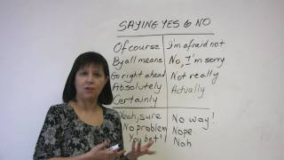 Saying Yes and No, Polite English