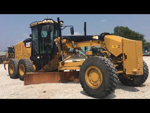 CATERPILLAR MOTORGRADER 160M2AWD equipment video -AX85jujqno